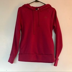 ADIDAS maroon pullover hoodie w pockets size small